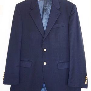 Men's Chaps 40R 100% Navy wool classic fit blazer
